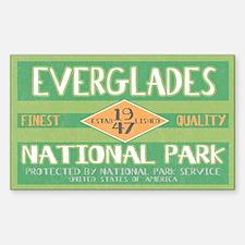Everglades National Park (Retro) Sticker (Rectangu