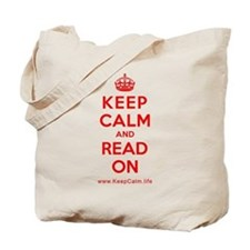 Cute Keep calm and read on Tote Bag