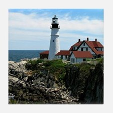 Portland, Maine Lighthouse Tile Coaster