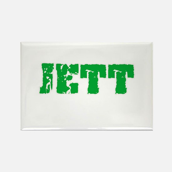 Jett Name Weathered Green Design Magnets
