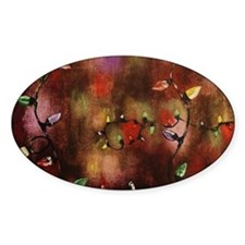 Multi Colored Christmas Lights Decal