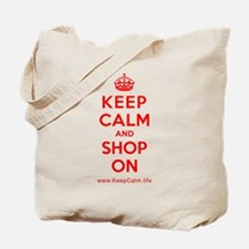 Cute Keep calm and shop Tote Bag