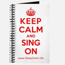 Cute Keep calm and sing Journal