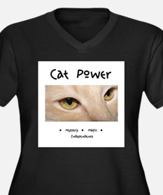 Cat Power Mystery and Magic Plus Size T-Shirt