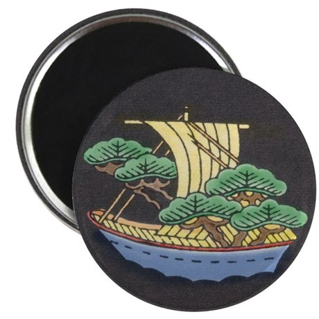 "Sailing Ship w/ Trees Aboard 2.25"" Magnet (10 pack"