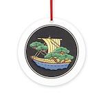 Sailing Ship w/ Trees Aboard Keepsake (Round)
