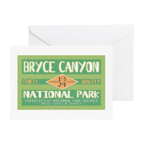 Bryce Canyon National Park (Retro) Greeting Card