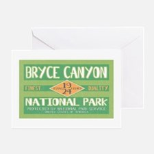 Bryce Canyon National Park (Retro) Greeting Card