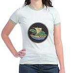Sailing Ship w/ Trees Aboard Jr. Ringer T-Shirt
