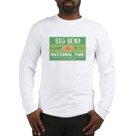 Big Bend National Park (Retro) Long Sleeve T-Shirt