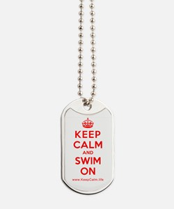 Cute Swimmers Dog Tags
