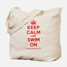 Unique Keep calm and swim on Tote Bag
