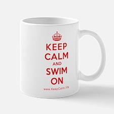 Cute Keep calm and swim on Mug