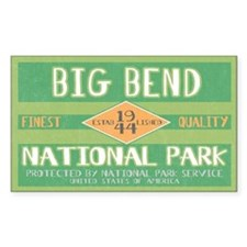 Big Bend National Park (Retro) Sticker (Rectangula