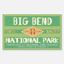 Big Bend National Park (Retro) Sticker (Rectangula