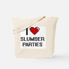 I love Slumber Parties Digital Design Tote Bag