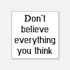 "Cute Philosophy Square Sticker 3"" x 3"""