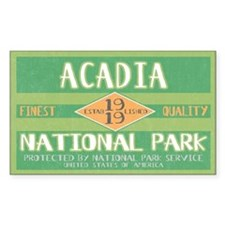 Acadia National Park (Retro) Rectangle Bumper Stickers