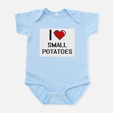 I love Small Potatoes Digital Design Body Suit