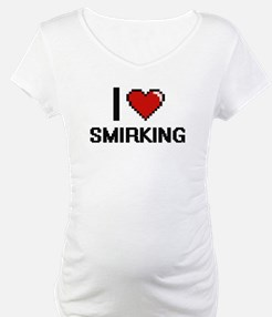 I love Smirking Digital Design Shirt
