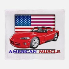 American Muscle Car Viper Throw Blanket