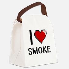 I love Smoke Digital Design Canvas Lunch Bag
