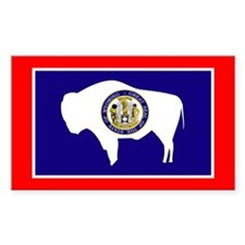 Wyoming Flag Rectangle Decal