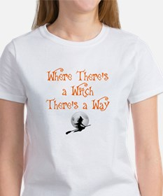 HALLOWEEN - WHERE THERE'S A WITCH  Women's T-Shirt