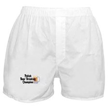 Polish Beer Champion Boxer Shorts