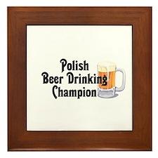 Polish Beer Champion Framed Tile