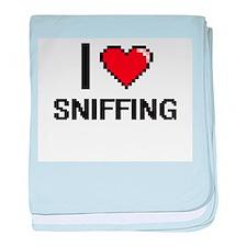 I love Sniffing Digital Design baby blanket