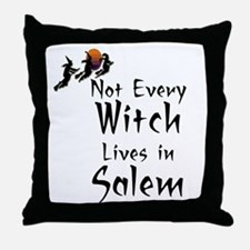 HALLOWEEN - NOT EVERY WITCH LIVES IN  Throw Pillow