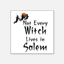 "HALLOWEEN - NOT EVERY WITCH Square Sticker 3"" x 3"""