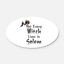 HALLOWEEN - NOT EVERY WITCH LIVES  Oval Car Magnet