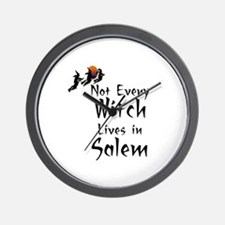 HALLOWEEN - NOT EVERY WITCH LIVES IN SA Wall Clock