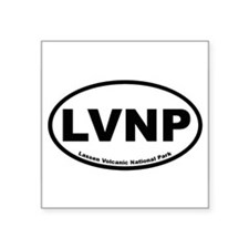 "Funny Lassen volcanic national park Square Sticker 3"" x 3"""