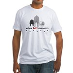 Nothin' Butt Schnauzers Fitted T-Shirt