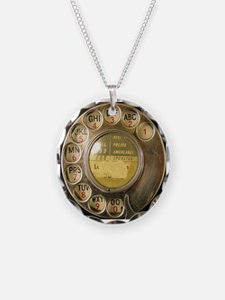 Antique Phone Dial Necklace