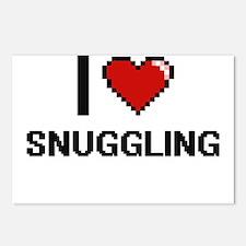 I love Snuggling Digital Postcards (Package of 8)