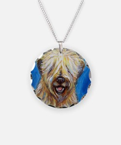 Unique Wheaten terrier art Necklace