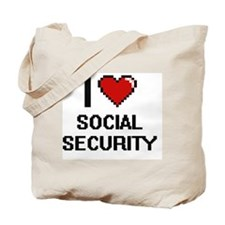 I love Social Security Digital Design Tote Bag