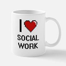 I love Social Work Digital Design Mugs