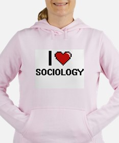 I love Sociology Digital Women's Hooded Sweatshirt