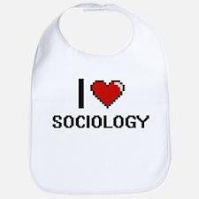 I love Sociology Digital Design Bib