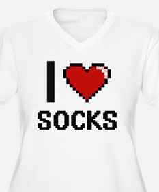 I love Socks Plus Size T-Shirt