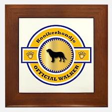Kooikerhondje Walker Framed Tile