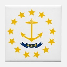 Rhode Island State Flag Tile Coaster