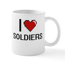 I Love Soldiers Digital Design Mugs