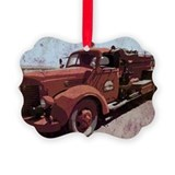 Firetruck Picture Frame Ornaments