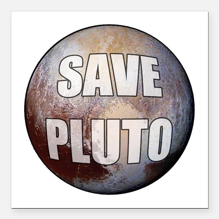 "Save Pluto Square Car Magnet 3"" x 3"""